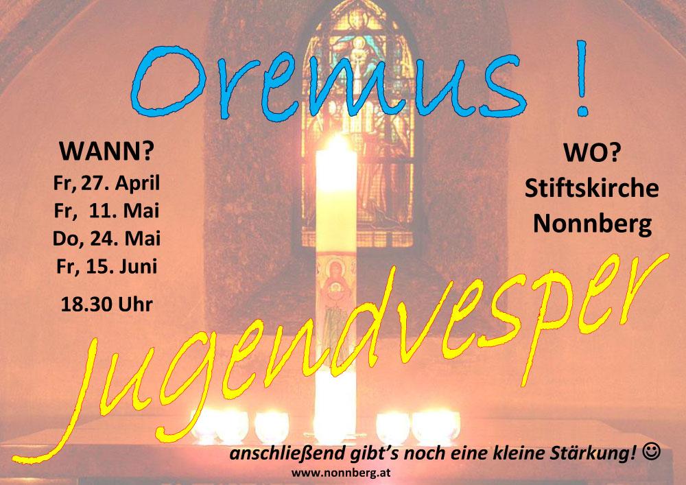 Jugendvesper in der Stiftkirche Nonnberg
