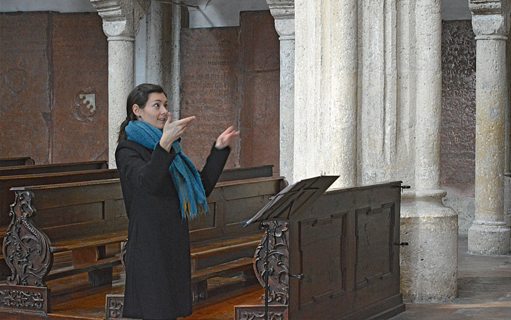 Stiftskirchenmusikerin Mag. Barbara Schmelz BA MA