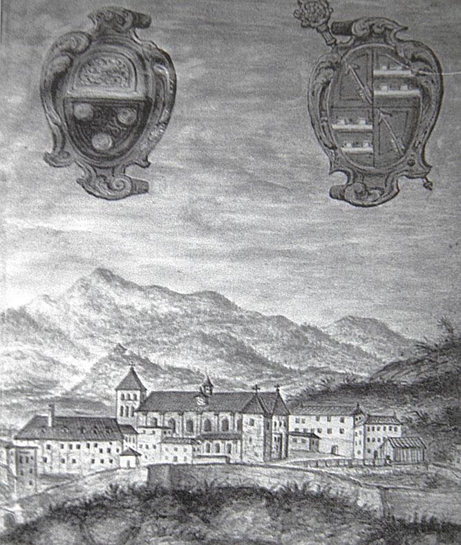 Rötelbild aus dem 17. Jh. unter Äbtisstin Magdalena I. von Schneeweiß (1620-1625)